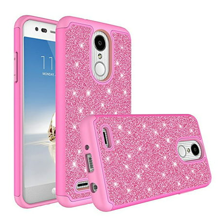 best service af339 9602c LG Aristo 2 Case, LG Tribute Dynasty Case, Glitter Case Shock Proof [HD  Screen Protector] Dual Layer Hybrid Protective Phone Case Cover for LG  Aristo ...