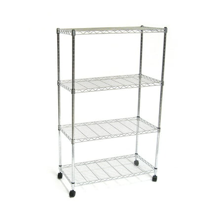 4-Tier UltraZinc Steel Wire Shelving /w Wheels by Seville Classics ()