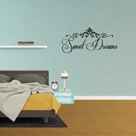 Sweet Dreams Vinyl Wall Decals Quote Sticker Home Bedroom Decor J512 -  Walmart.com