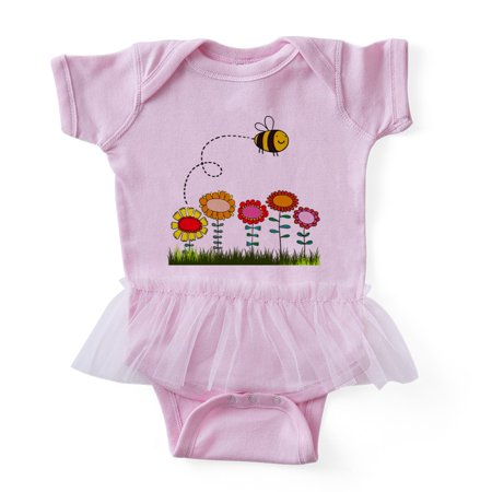 CafePress - Bee Buzzing Flower Garden Shower Curtain White - Cute Infant Baby Tutu - Garden Onesie