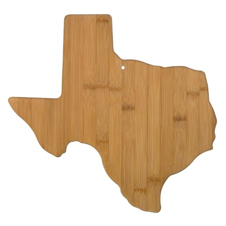 Shaped Board - Totally Bamboo Texas State Shaped Bamboo Serving and Cutting Board