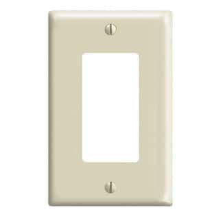 Mini Home Plate Wall (Leviton  020-80601-I Single Gang Ivory 1-Decora Mini Rocker Wallplate )