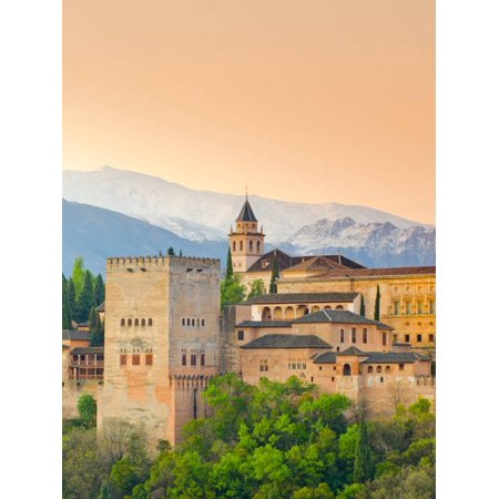 Spain, Andalucia, Granada Province, Granada, Alhambra Palace and Sierra Nevada Mountains Print Wall Art By Alan Copson](Alhambra Palace Halloween)