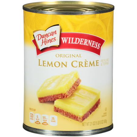 (3 Pack) Duncan Hines Wilderness Original Lemon Creme Pie Filling & Topping, 21 (No Bake Lemon Pie With Eagle Brand Milk)