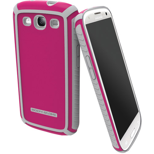 BODY GLOVE 9345001 Samsung(R) Galaxy S(R) III Tactic Brushed Case (Raspberry/Silver)