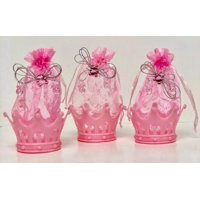 Baby Shower Pink Fillable Crown Favors Decorations Keepsake 8 Ct