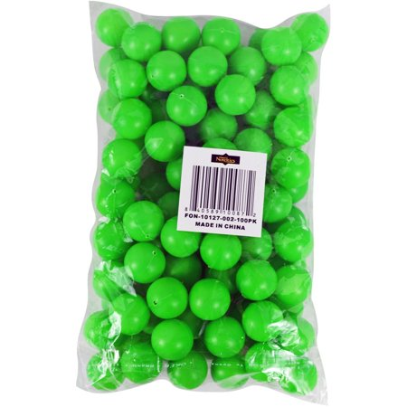 3/4 Mini Ping Pong / Table Tennis / Beer Pong Round Green Balls - 19mm - 100pk - Halloween Eyeball Ping Pong Balls
