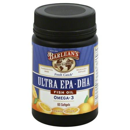 - Barlean's - Fresh Catch Fish Oil Ultra EPA-DHA Omega-3 Orange Flavor - 60 Softgels