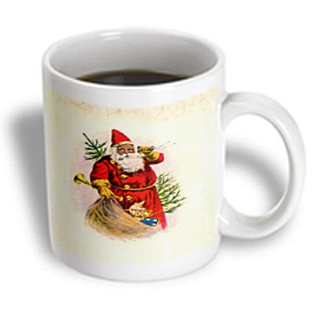 (3dRose Illustration Of African American Santa Claus, Ceramic Mug, 15-ounce)