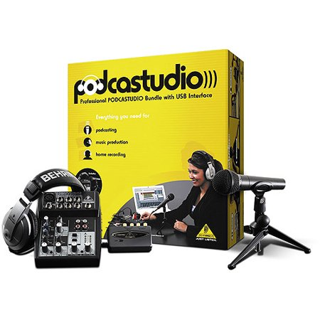 behringer podcastudio usb podcast recording package with usb interface mixer microphone. Black Bedroom Furniture Sets. Home Design Ideas