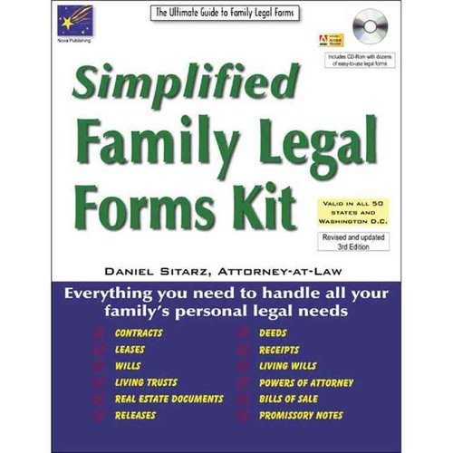Simplified Family Legal Forms Kit: The Ultimate Guide to Family Legal Forms: PDF Included