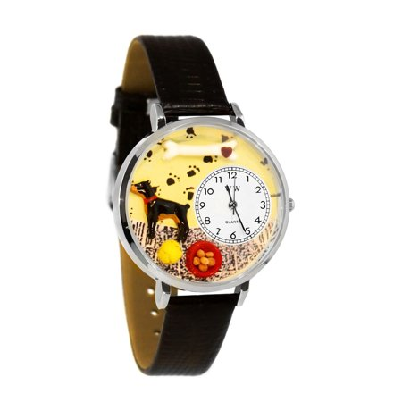 Doberman Pinscher Watch in Silver (Large)