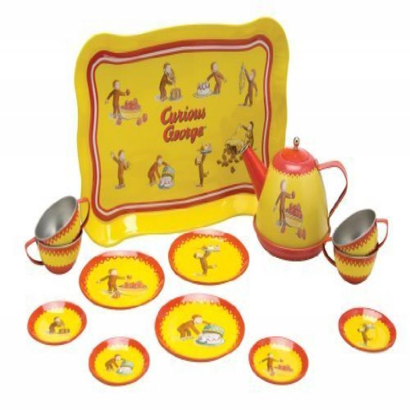 Schylling Curious George Tin Tea Set by Schylling by