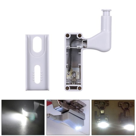 10 PCS LED Sensor Hinge Light Lamp for Kitchen Cabinet Cupboard Closet Wardrobe White