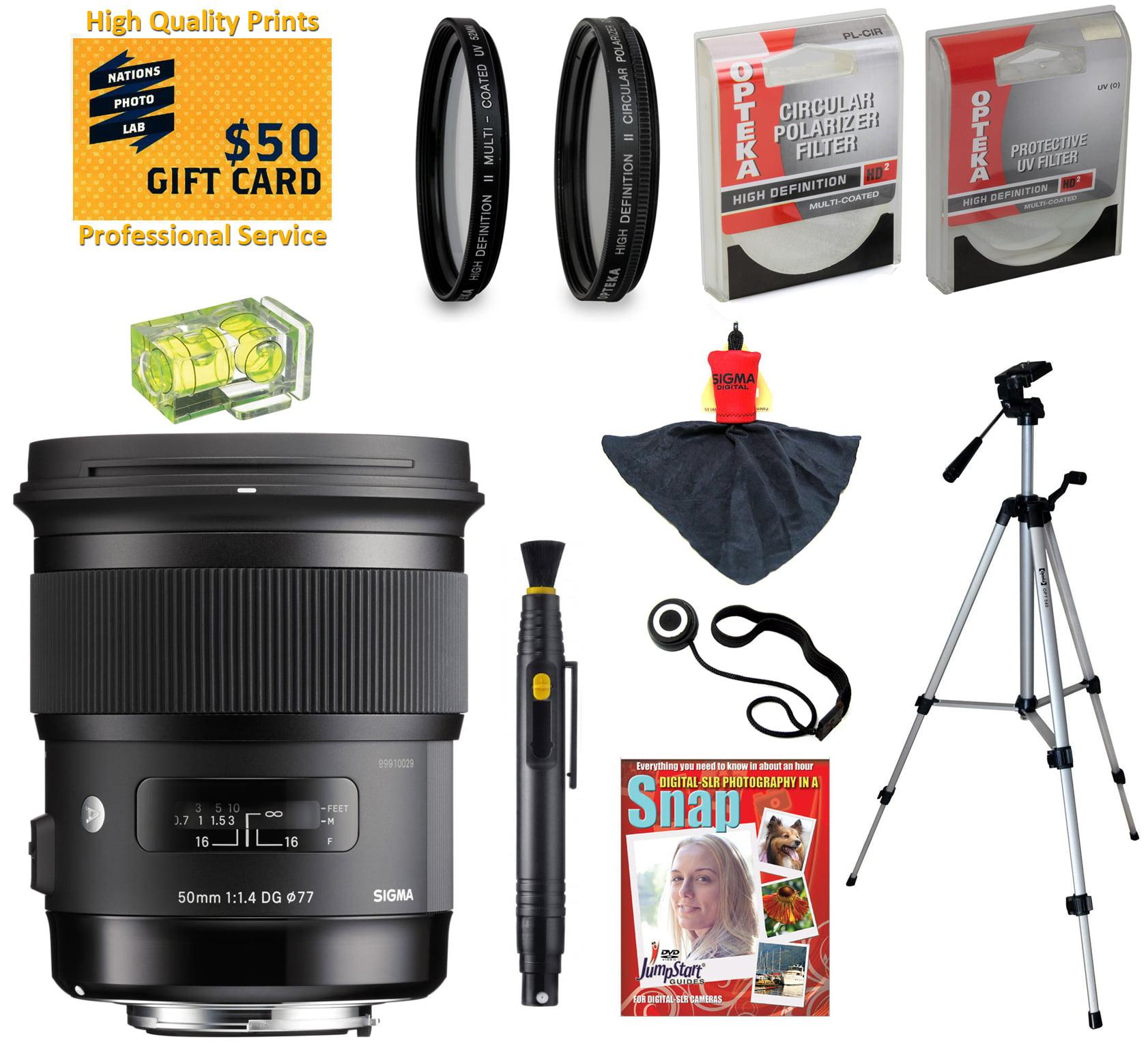 Sigma 50mm F1.4 DG HSM ART Lens with UV, CPL, FLD, ND4, +...