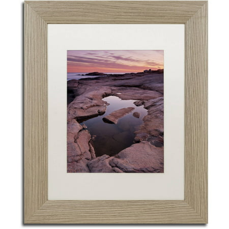 Trademark Fine Art 'Tide Pool Geometry' Canvas Art by Michael Blanchette Photography, White Matte, Birch Frame