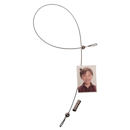 Polaroid Magnetic 32 Inch Photo Cable Hang & Display 8 Pictures Art Greeting Cards Vertical Or