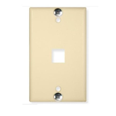 Wall Plate Phone Flush 1-Port - Ivory