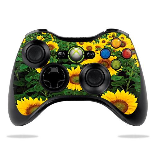Protective Vinyl Skin Decal Cover for Microsoft Xbox 360 Controller wrap sticker skins Sunflowers