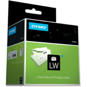 DYMO LW 3-Part Internet Postage Labels for LabelWriter Label Printers, White, 2-1/4'' x 7'', 1 roll of 150