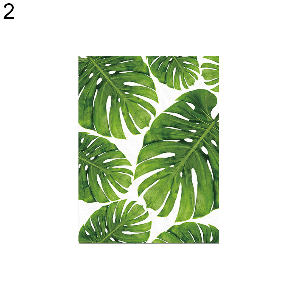 Micelec Fashion Palm Leaf Canvas Frameless Painting Home Office Wall Art Decoration