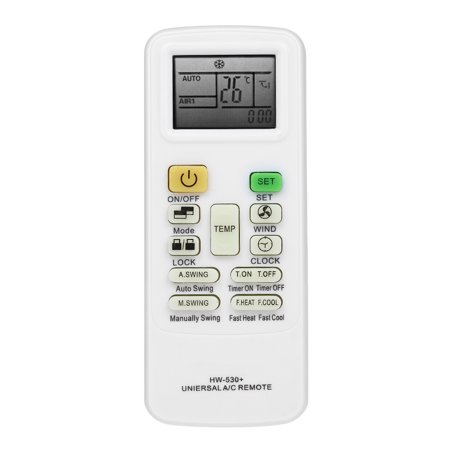 Universal LCD Screen Air Conditioner Remote Control Conditioning Controller for HAIER Midea LG TCL FUJITSU SHARP White (Ac Control Remote)