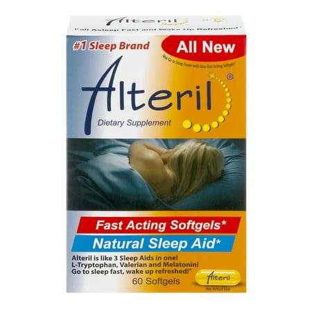 Image of Alteril Fast Acting Natural Sleep Aid Softgels - Melatonin - 60ct
