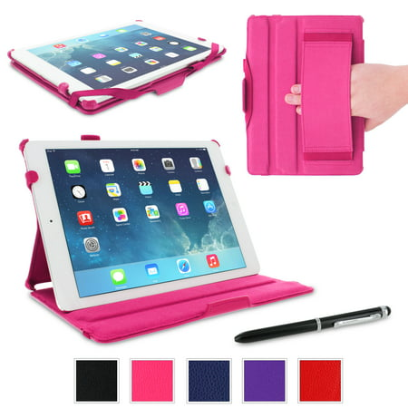 iPad Air Case, Apple iPad Air 1 Case, rooCASE Slim Fit Leather PU Lightweight Folio Stand Smart Cover Auto Sleep/Wake for Original iPad Air 1