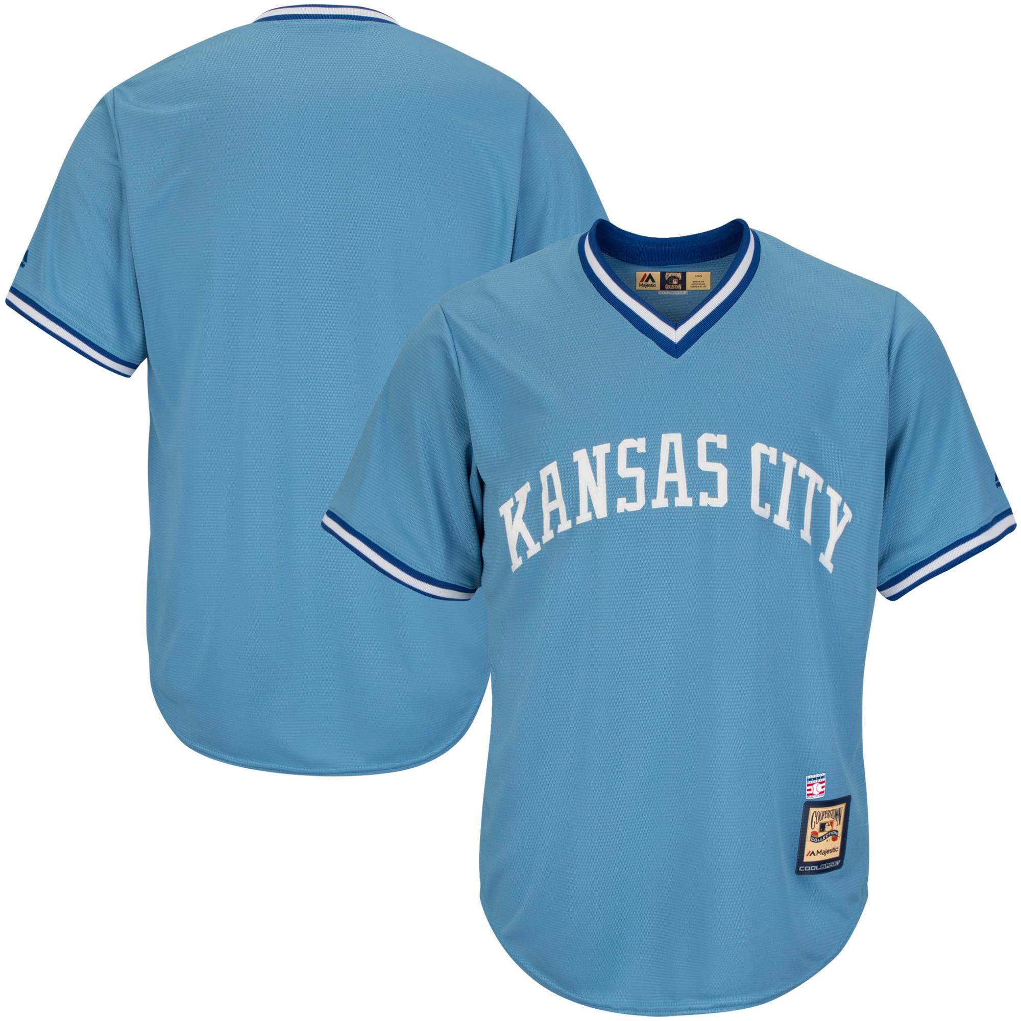 Kansas City Royals Majestic Big & Tall Cooperstown Cool Base Jersey - Light Blue