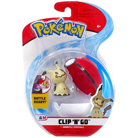 Pokemon Clip 'N' Go Mimikyu & Poke Ball Figure Set](Pokemon Balls That Open)