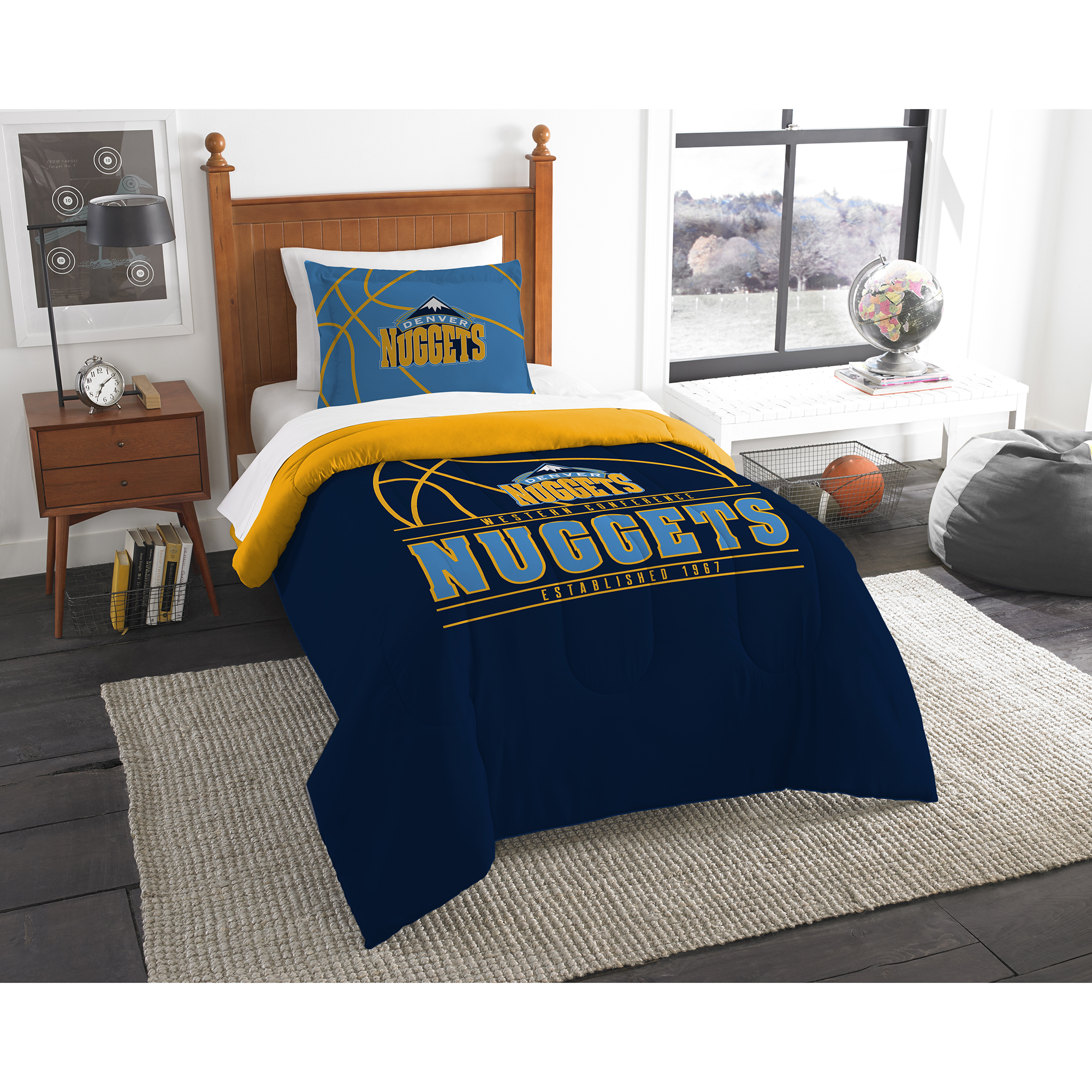 detailed look 1cd07 2a26d Denver Nuggets The Northwest Company Reverse Slam Twin Comforter Set - No  Size