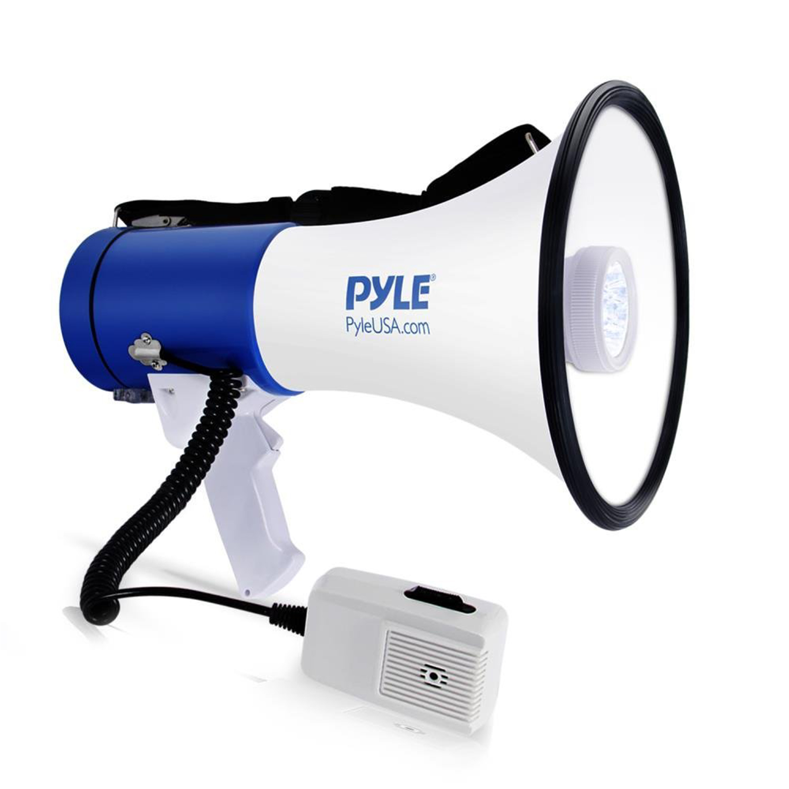 Pyle PMP51LT 50-Watt Megaphone Bullhorn with Built-in LEDs by Pyle