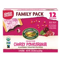 Natures Path Organic Toaster Pastries, Frosted Cherry Pomegranate, 12 Ct