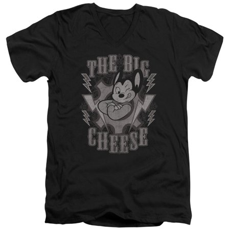 Mighty Mouse Cartoon Cbs Tv Series The Big Cheese Adult V Neck T Shirt Tee