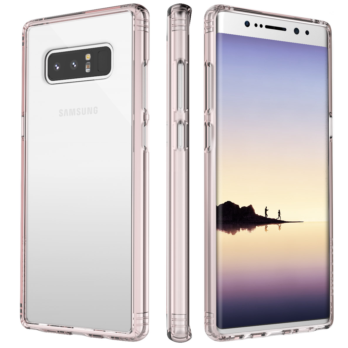 Saharacase Ocl-S-N8-Rog/Cl Classic Case For Samsung Galaxy Note 8, Rose Gold Clear