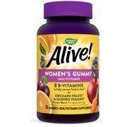 Nature's Way Alive! Women's Gummy Multivitamin, B-Vitamins, Mixed Berry Flavor, 60 Gummies