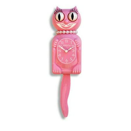 The Original New Edition Kitty Cat Klock (Clock) Miss Kitty Cat Limited Edition - Pink (Cat Clock Small)