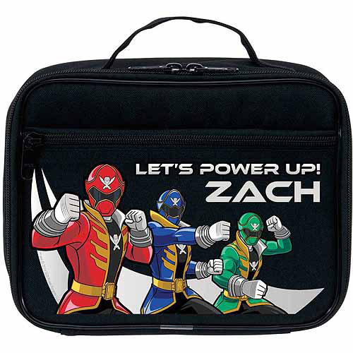 Personalized Power Rangers Power Up Black Lunch Bag