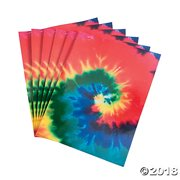 Tie-Dyed Sheets(pack of 4) Add a groovy new element to crafts with these Tie Dye Sheets! Kids can cut out fun shapes to create their own embellishments and more! Add these foam sheets to your craft supplies for an easy-to organize go-to for all your arts and crafts projects. Find even more groovy craft supplies on our website! Foam.