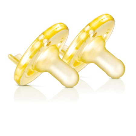 (2 Pack) Philips Avent Soothie Pacifier, 0-3 Months, Yellow - 2 Counts
