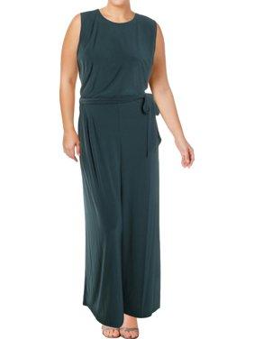 433fca9be07c Product Image Lauren Ralph Lauren Womens Plus Wide-Leg Sleeveless Jumpsuit