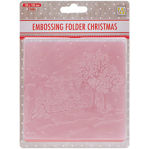 """Nellie's Choice Picture Embossing Folder, 5"""" x 5"""", Winter Landscape"""