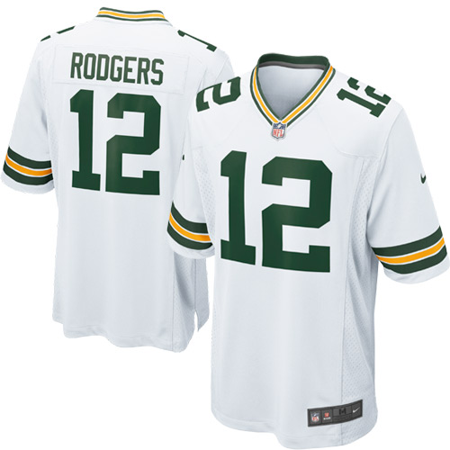 Aaron Rodgers Green Bay Packers Nike Game Jersey - White