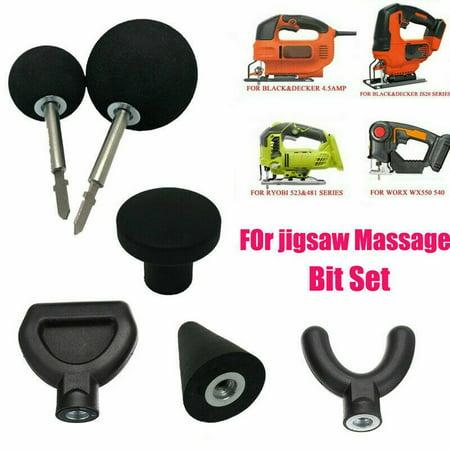 New Percussion Massage 6pcs Tip & Bit For Jigsaw Massager Adapter Attachment Worx US (Massage Chair Attachment)