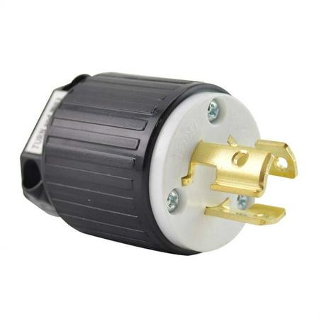 Superior Electric YGA027 Twist Lock Electrical Plug, 3P 15A 250V - NEMA L6-15P ()