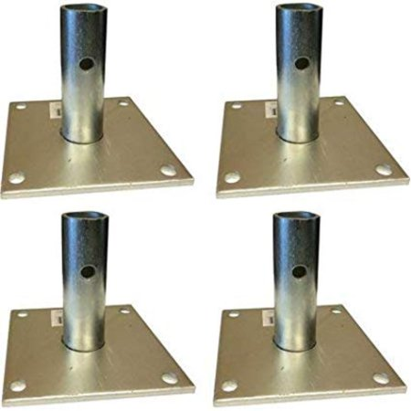 Pro Scaffolding Set - Pro Series Steel Scaffold Base Plate (Set of 4) By Buffalo Tools