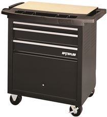 Waterloo 3 Drawer Rolling Project Center With Bulk Bin, Black