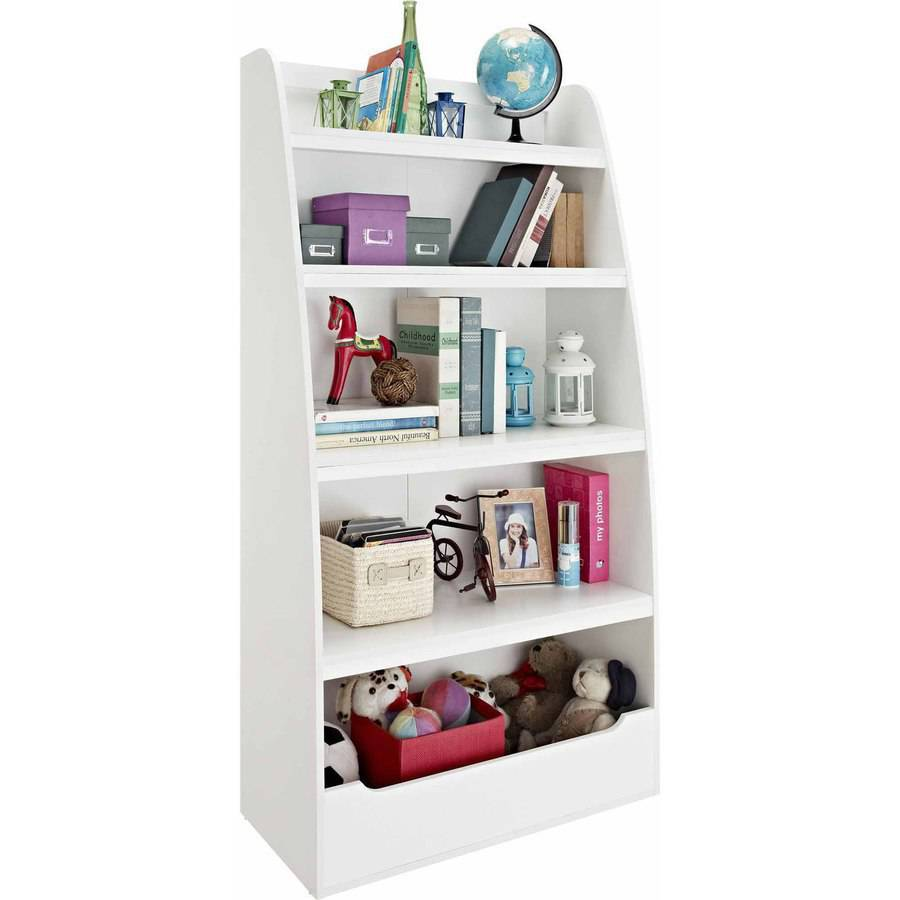 Ameriwood Home Mia Kidsu0027 4 Shelf Bookcase, White