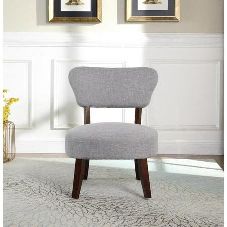 Round Seat Accent Chair, Gray - Walmart.com