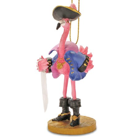 Tropical Pirate Girl Pink Flamingo Christmas Ornament](Flamingo Ornaments)